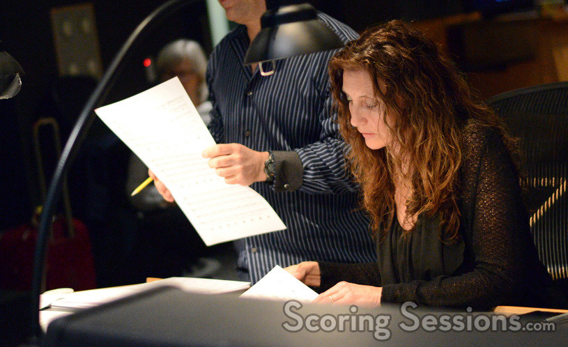 Orchestrator Benoit Grey and composer Hélène Muddiman