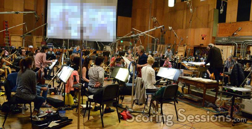 The orchestra for <em>Jack Reacher: Never Go Back</em> performs at 20th Century Fox