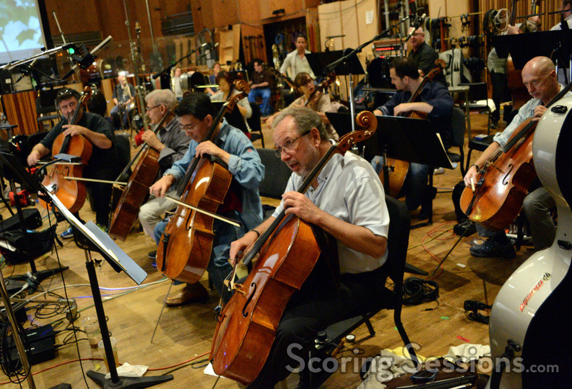 Steve Erdody and the cello section