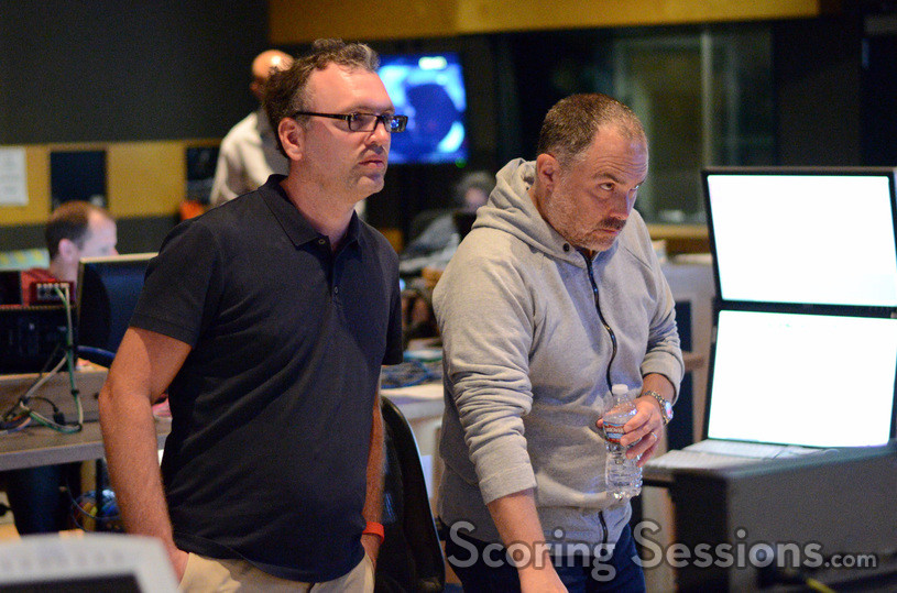 Composer Henry Jackman and scoring mixer Chris Fogel