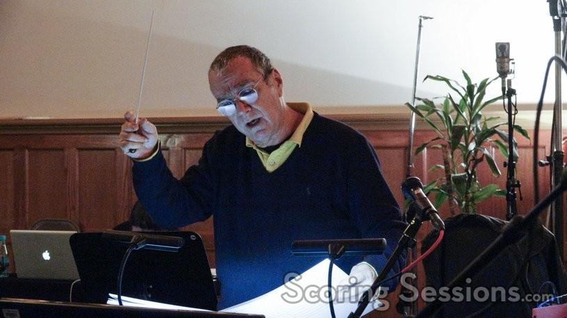 Composer Carlo Siliotto gives feedback to the musicians