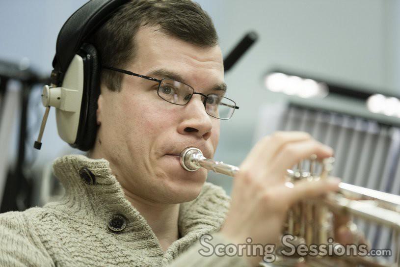 A trumpet player
