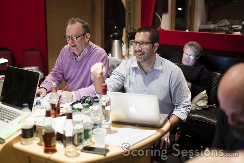 Music editor Christopher Brooks and composer Christopher Lennertz