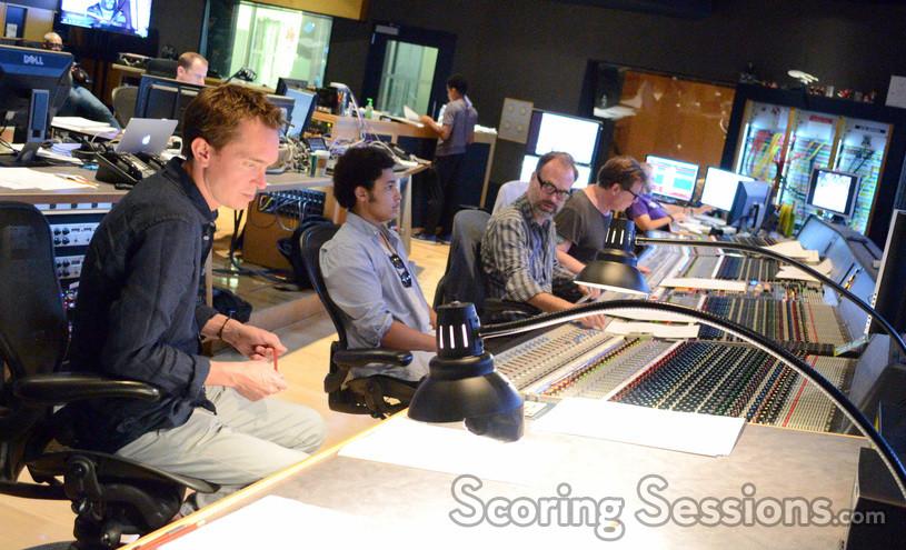 Orchestrator Jeremy Holland-Smith, ____, composer Joby Talbot, scoring mixer Alan Meyerson