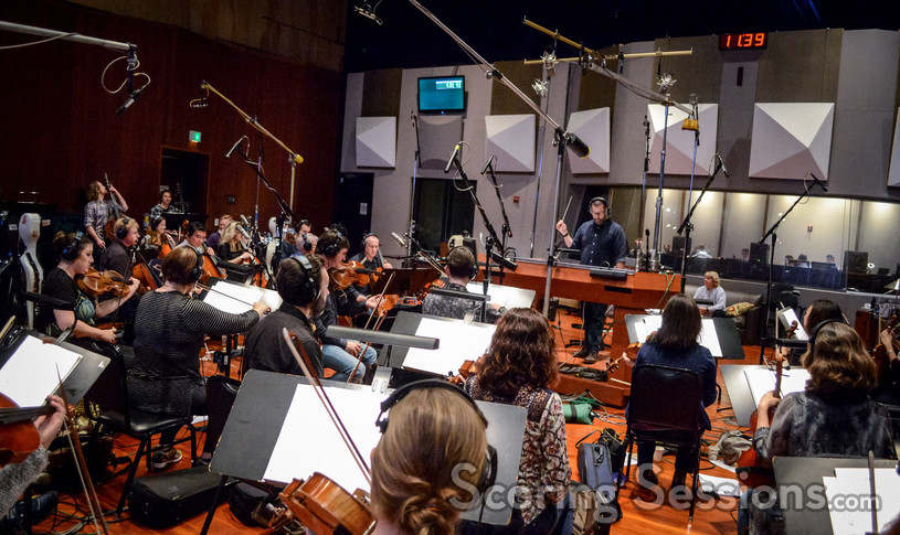 Composer Christopher Lennertz conducts the Hollywood Studio Symphony