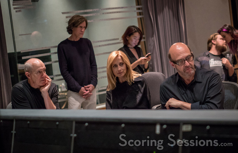 Conductor William Ross, lyricist Glen Ballard, vocalist Lara Fabian, director Angie Su, and composer Randy Kerber