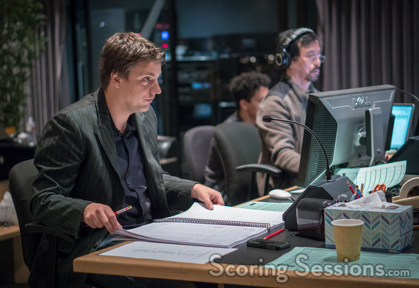 Orchestrator Henri Wilkinson and ProTools recordist Larry Mah