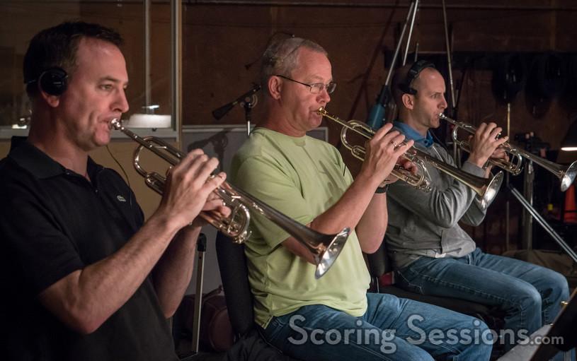 Chris Still, Jon Lewis and Tom Hooten on trumpets