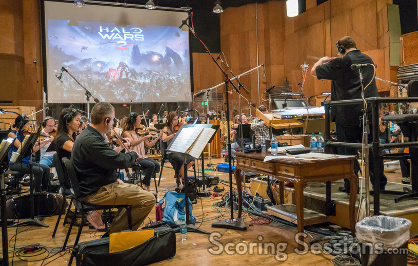 Carl Ryland and the Hollywood Studio Symphony perform on <em>Halo Wars 2: Awakening the Nightmare</em>