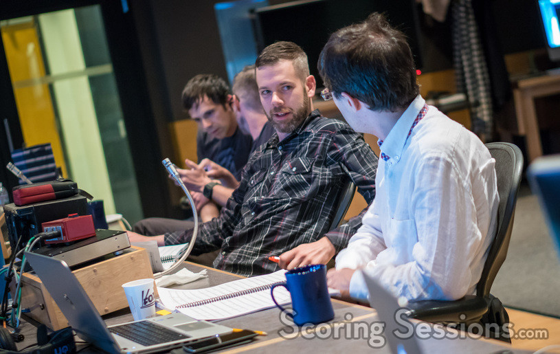 Finishing Move Inc. composers Brian Trifon and Brian Lee White, music programming/additional music composer Sam Smythe, and scoring assistant/additional music composer Marco Valerio Antonini discuss a cue