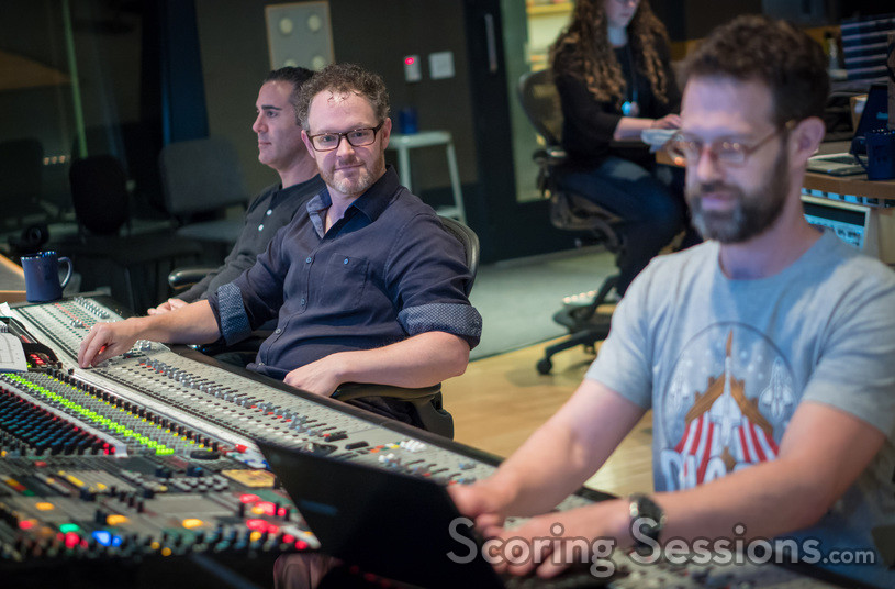 Formosa Group VP Paul Lipson, composer Gordy Haab and scoring mixer Steve Kaplan
