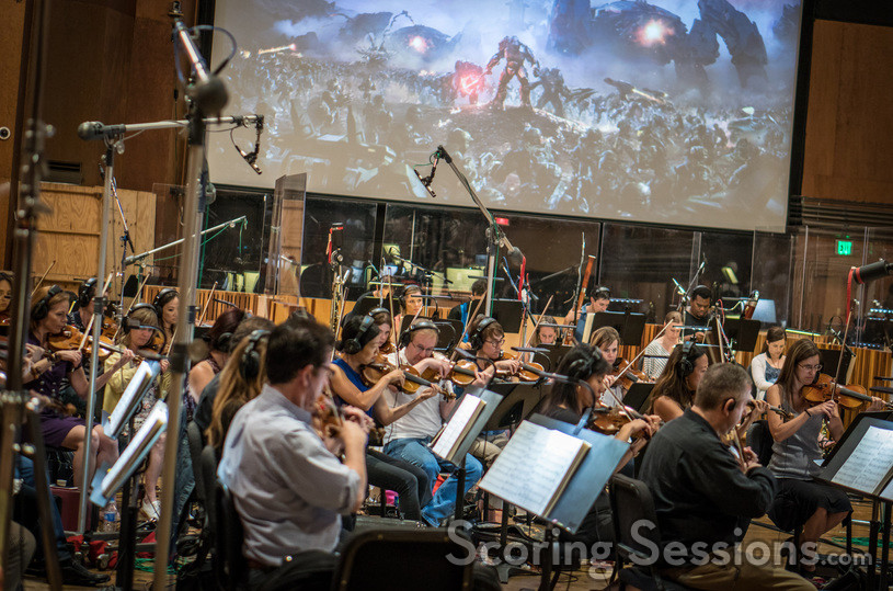 The orchestra performs on <em>Halo Wars 2: Awakening the Nightmare</em>