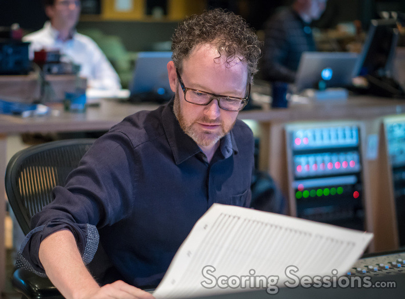 Composer Gordy Haab examines a cue