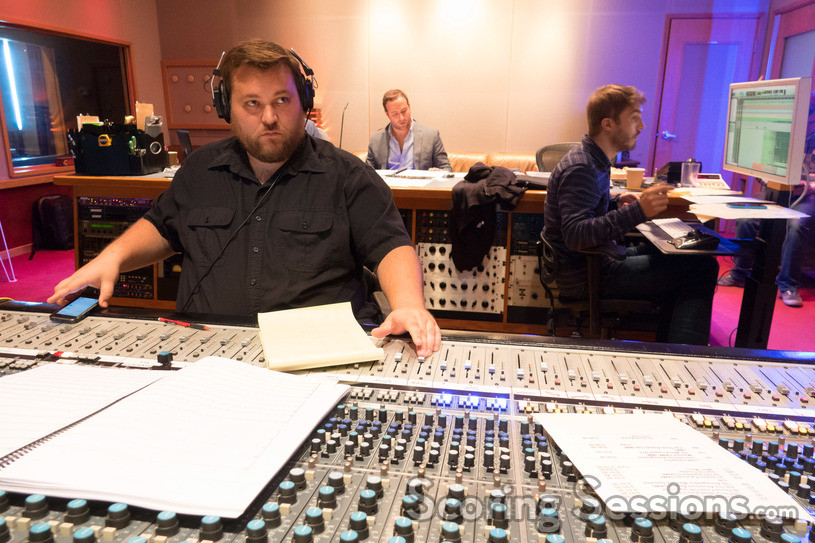 Recording Engineer Nick Spezia at the console at Ocean Way Studios