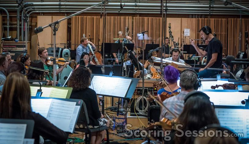 Ramin Djawadi conducts the Hollywood Studio Symphony strings