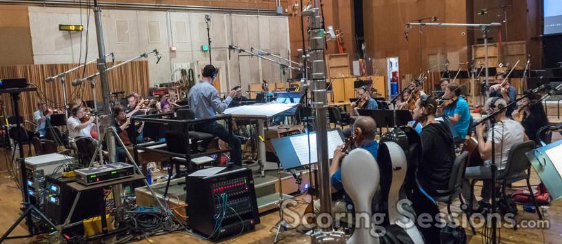 Ramin Djawadi conducts the strings