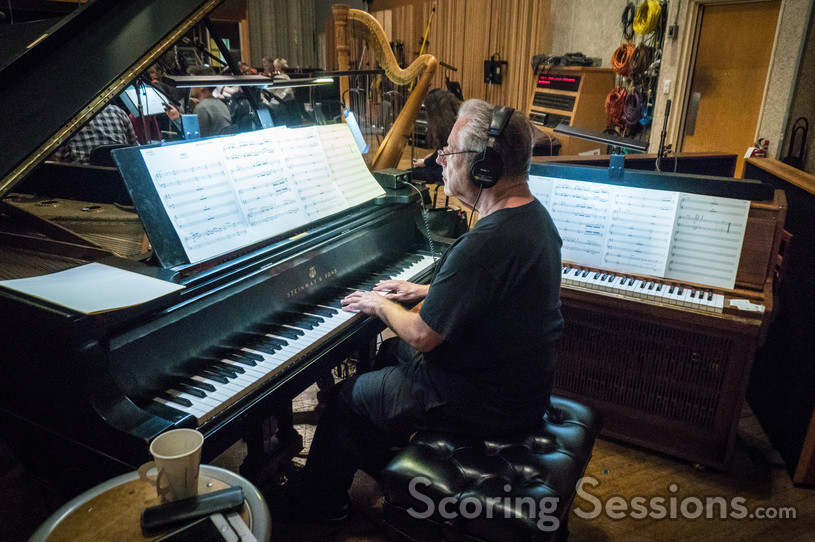 Pianist Mike Lang performs on a cue for <i>The Orville</i>
