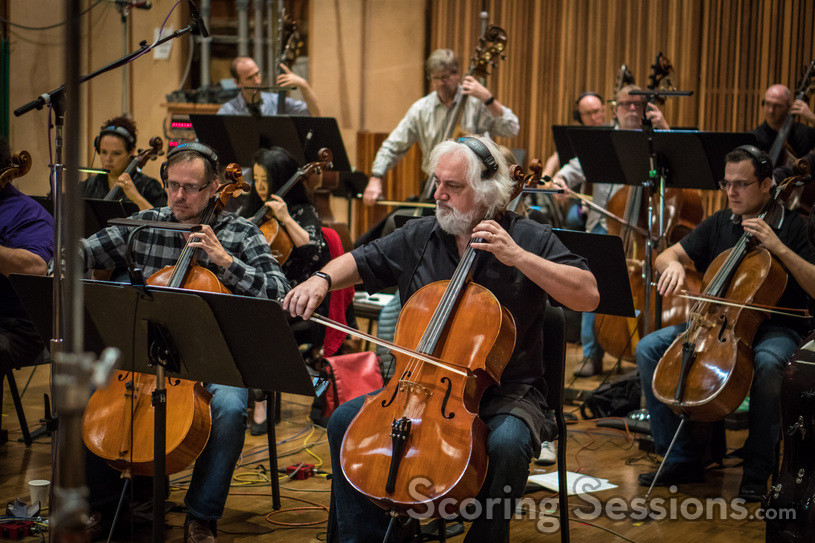 The cellos, led by Andrew Shulman