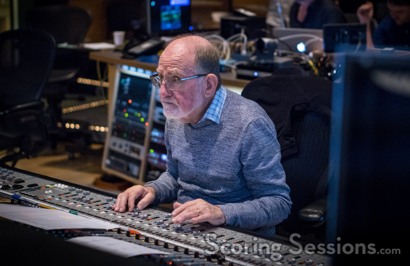 Scoring mixer Armin Steiner checks levels