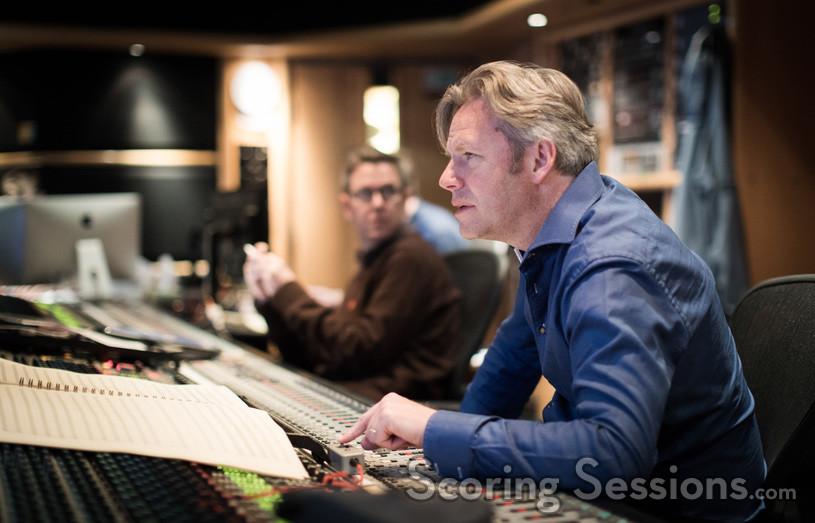 Engineer Jake Jackson (left), Composer Stephen Baysted (centre)