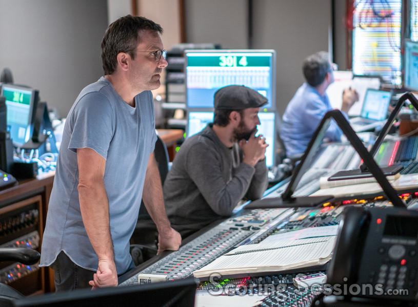 Composer Rupert Gregson-Williams, scoring mixer Jason La Rocca, and stage recordist Tom Hardisty