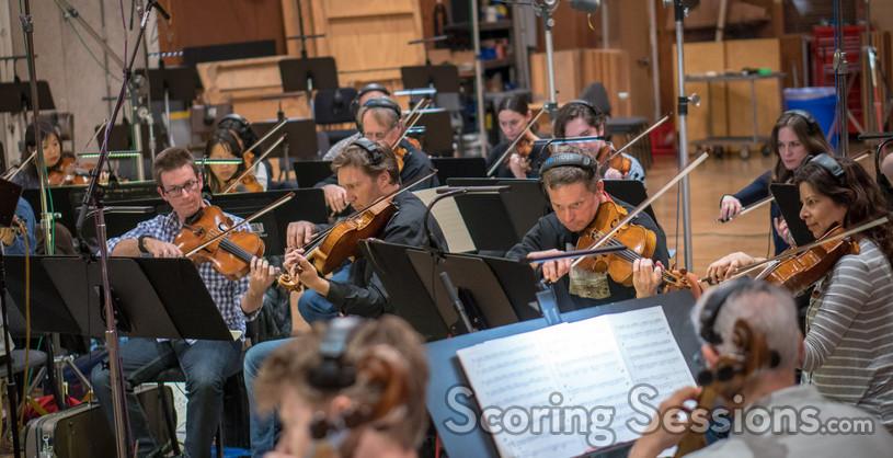 The viola section on <em>The Darkest Minds</em>