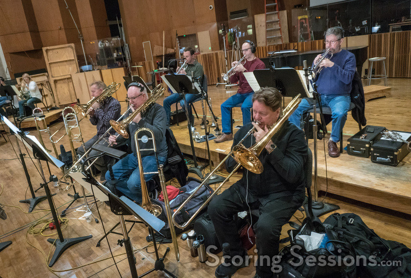 The trombones and trumpets