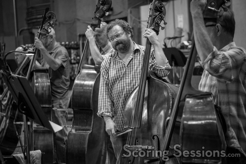 Bassist Mike Valerio and the bass section perform
