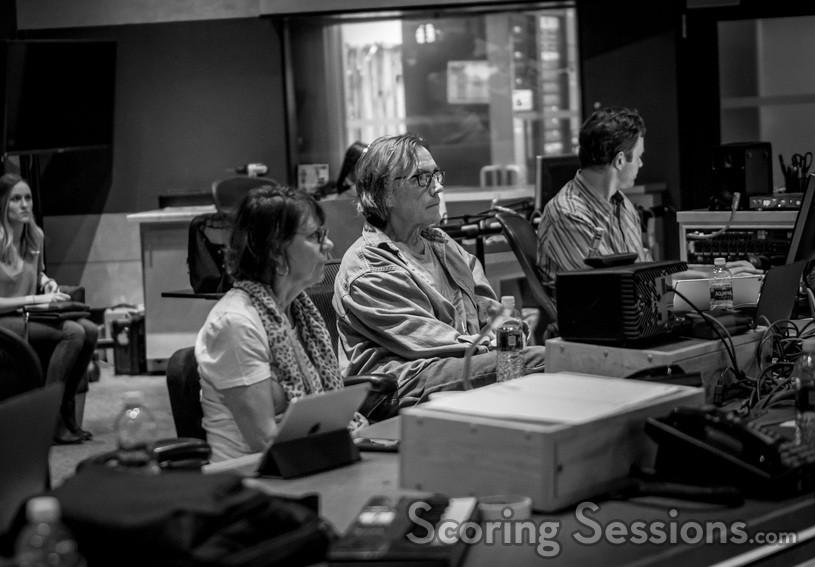 Film editor Debra Neil-Fisher, music editor Bill Abbott, and ProTools recordist Greg Hayes