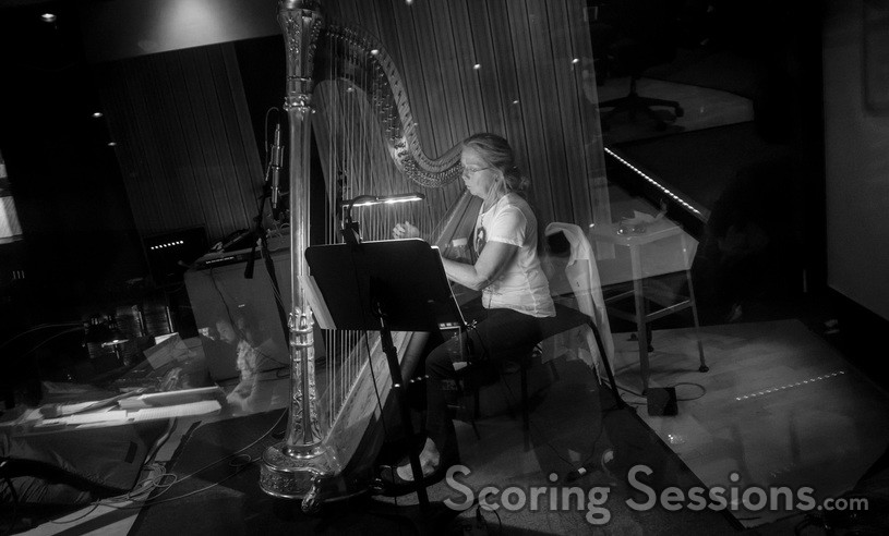 Harpist Katie Kirkpatrick performs