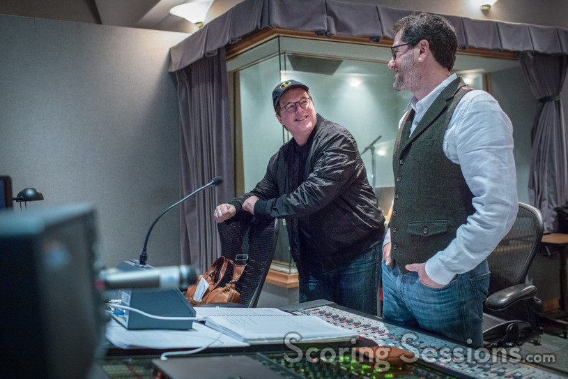 Director/writer Brad Bird and composer Michael Giacchino share a moment