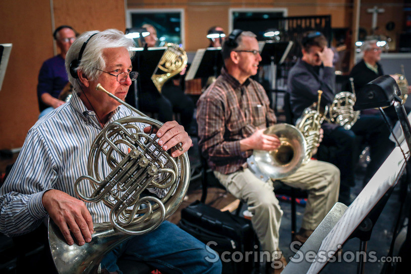 The French horn section on <em>Incredibles 2</em>