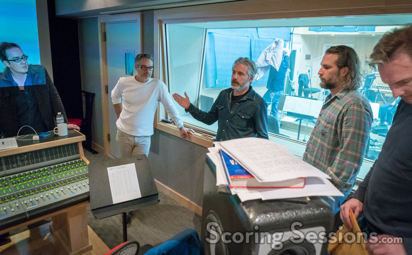 Additional music composer Miles Hankins, composer Marco Beltrami, score producer Buck Sanders, supervising music editor Jim Schultz and additional music composer Marcus Trumpp
