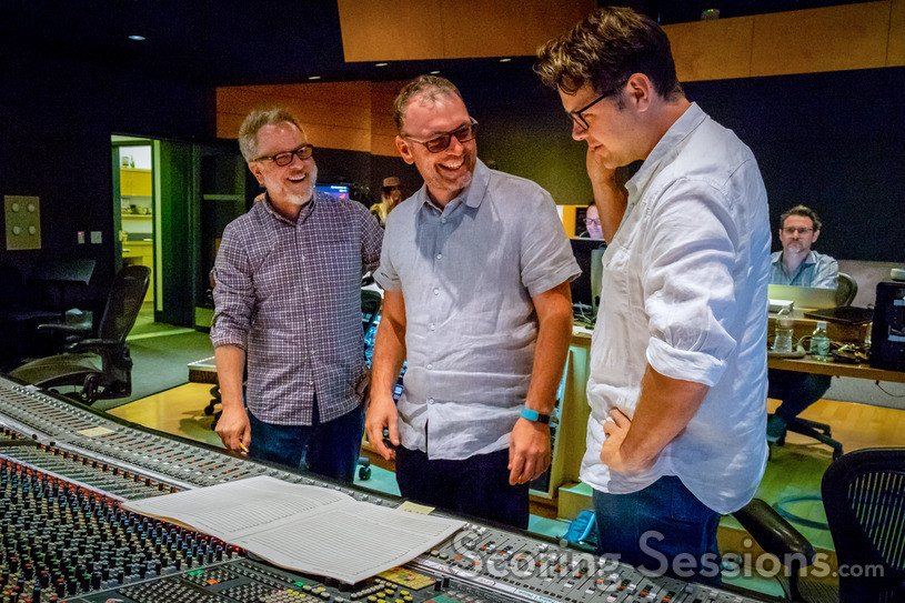 Director Phil Johnston, composer Henry Jackman and director Rich Moore discuss a cue
