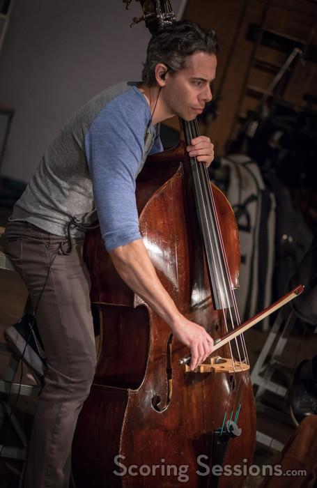 Steve Dress performs bass