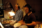 Percussionist Danny Greco and actor Kevin Weisman