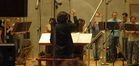 Bear McCreary conducts the choir