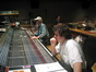 Score mixer Dan Wallin and Michael Giacchino