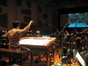 Stephen Barton conducts the orchestra through some wild effects
