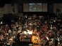 This overhead shot shows the unique composition of the orchestra