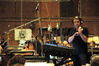 Harry Gregson-Williams discusses a cue with the violin section