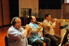 Charlie Davis, Gary Grant and Wayner Bergeron play trumpet