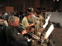 Charlie Loper, Alan Kaplan, Andy Malloy and George Thatcher on trombone