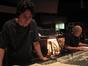 Composer Teddy Castellucci and score mixer Dennis Sands