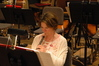 Oboist Leslie Reed rehearsing a cue