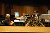 Composer Bill Conti, Music Editor Kevin Bassinson, Score Mixer Dan Wallin and Music Editor Chris McGeary