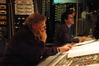 Score mixer Steve Kempster and Stage Recordist Tom Hardisty