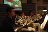 Steve Becknell, Rick Todd, Brian O'Connor and Jim Thatcher play French Horn