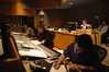 Orchestrator Jerry Hey, Scoring Mixer Steve Kempster, Stage Recordist Tom Hardist and Pre-Record Rigmeister Mike Stern