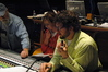 Scoring mixer Dan Wallin, orchestrator Jennifer Hammond and composer Michael Giacchino at the <i>Airborne</i> E3 trailer scoring session